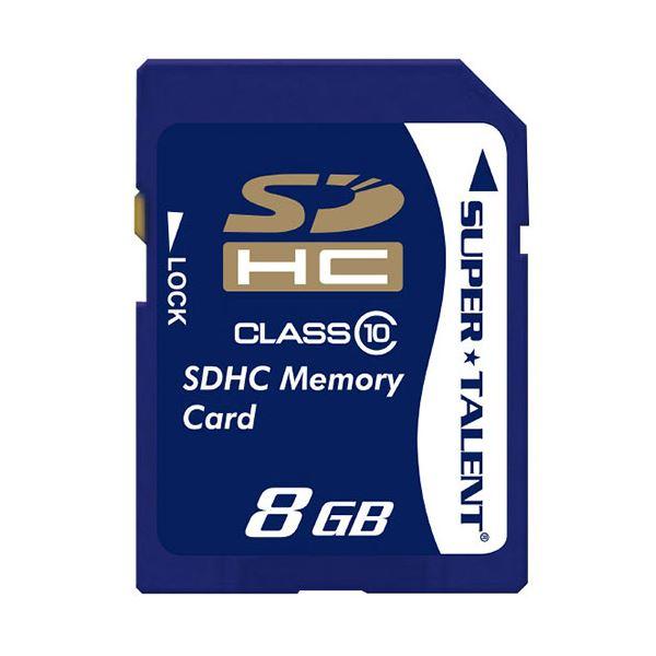 (まとめ) スーパータレント SDHCカードCLASS10 8GB ST08SDC10 1枚 【×10セット】