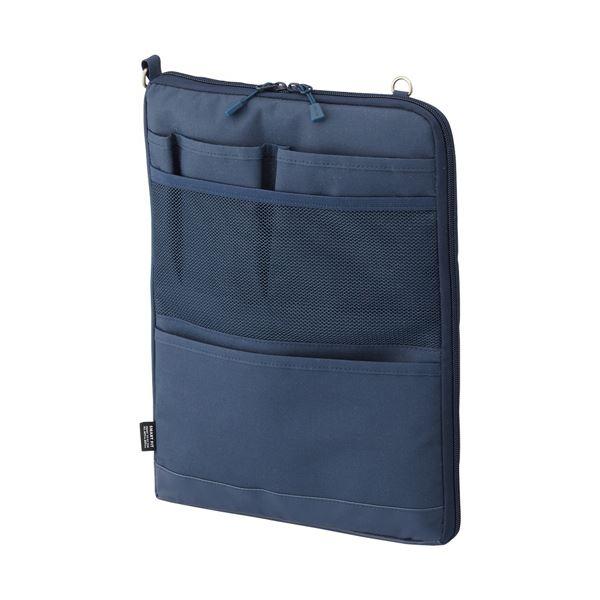 (まとめ)リヒトラブ SMART FITACTACT バッグインバッグ (タテ型) A4 ネイビー A-7683-11 1個【×3セット】