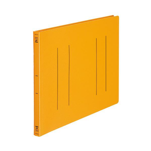 (まとめ) コクヨ フラットファイル(PP) B4ヨコ 150枚収容 背幅20mm オレンジ フ-H19YR 1セット(10冊) 【×5セット】