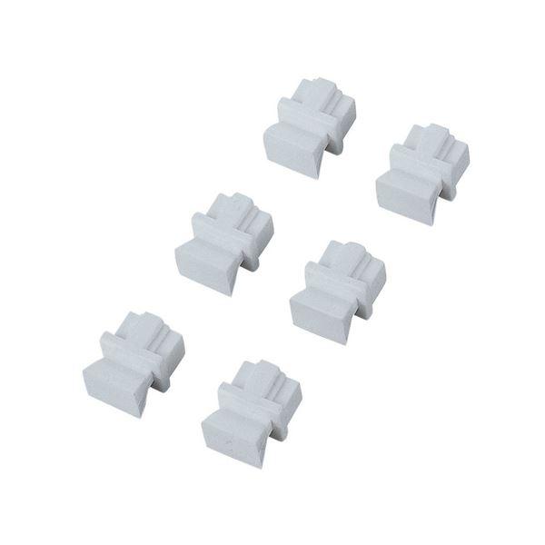 (まとめ) エレコム ほこりカバー RJ45用ホワイト LD-DUSTWH6 1箱(6個) 【×30セット】