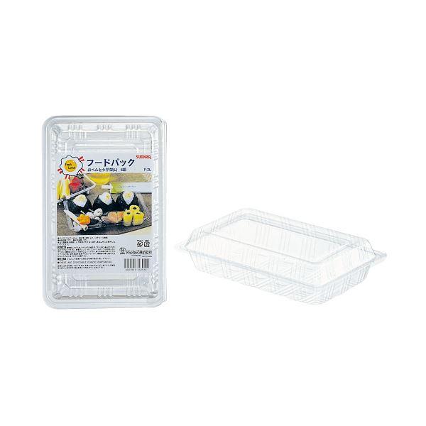 (まとめ)サンナップ フードパック お弁当平型L 5組(×100セット)