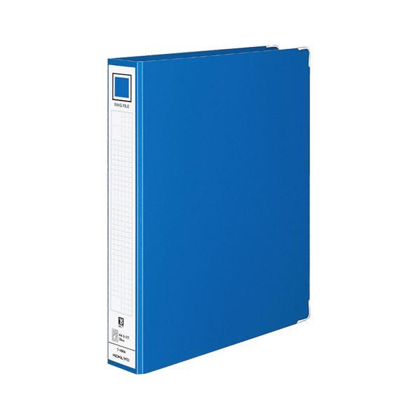 (まとめ) コクヨ リングファイル 色厚板紙表紙 A4タテ 2穴 330枚収容 背幅54mm 青 フ-490B 1冊 【×30セット】