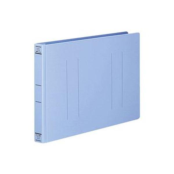 (まとめ)コクヨ フラットファイル(PPワイド)A4ヨコ 250枚収容 背幅30mm 青 フ-HW15NB 1セット(10冊)【×5セット】