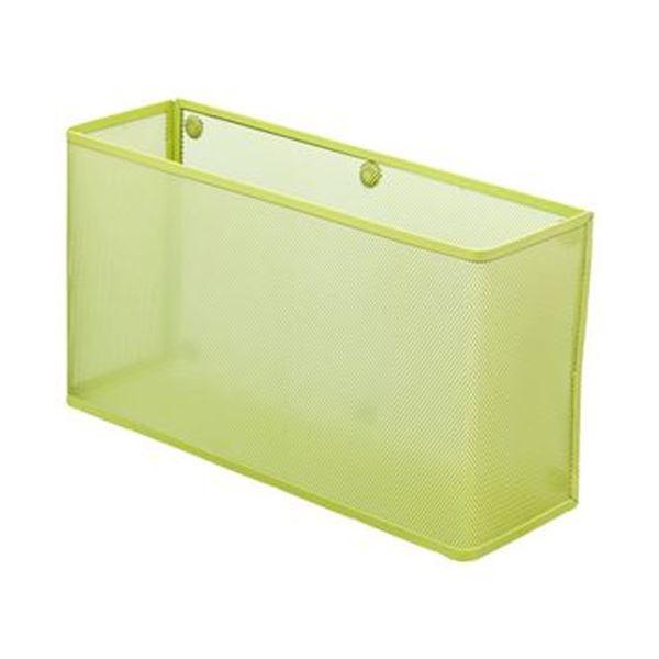 (まとめ)リヒトラブ マグネットポケットA4ヨコワイド 黄緑 A-7395-6 1個【×5セット】