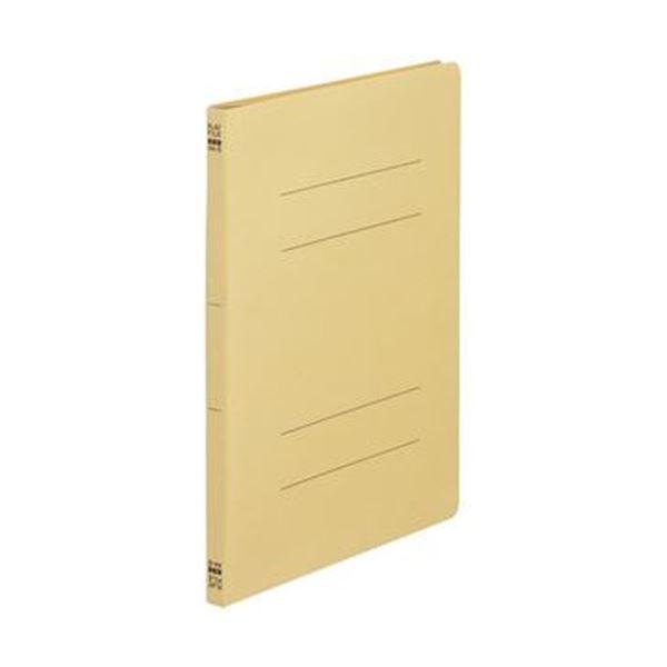 (まとめ)TANOSEE フラットファイル(ノンステープルタイプ)A4タテ 150枚収容 背幅18mm 黄 1セット(100冊:10冊×10パック)【×5セット】
