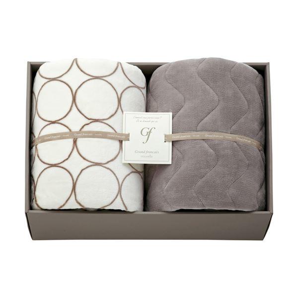 ハイソフトタッチマイヤー毛布&吸湿発熱綿入り敷パット アイボリー L3196546