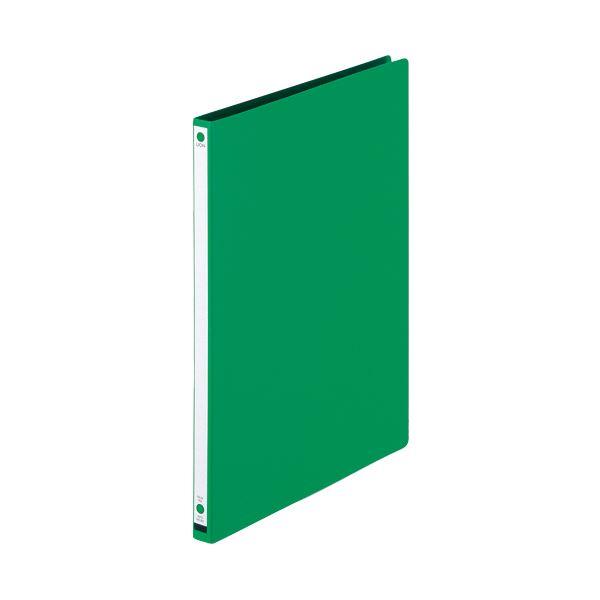 (まとめ) ライオン事務器 パームファイル 強化Z式A4タテ 120枚収容 背幅18mm 緑 No.85-A4S 1冊 【×30セット】
