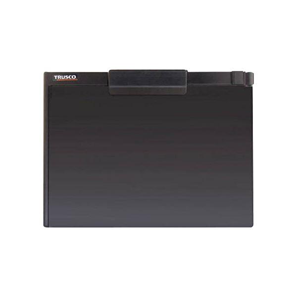 (まとめ) TRUSCOペンホルダー付クリップボード(マグネット付) A4横 黒 TCBM-A4S-BK 1個 【×30セット】