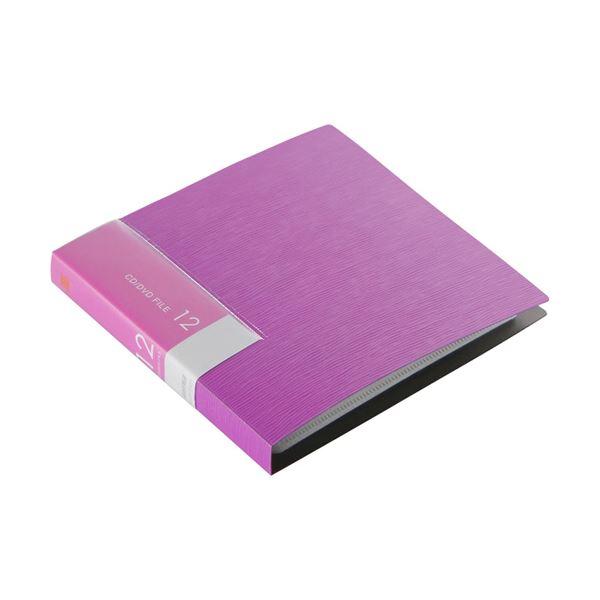 (まとめ)バッファローCD&DVDファイルケース ブックタイプ 12枚収納 ピンク BSCD01F12PK 1個【×30セット】
