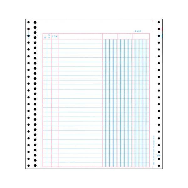 【スーパーSALE限定価格】(まとめ) オービック バインダー元帳 Y10×T11 連続用紙 4024 1箱(1000枚) 【×5セット】