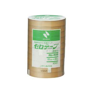 (まとめ) ニチバン 産業用セロテープ 大巻15mm×50m 405-15x50 1パック(10巻) 【×10セット】