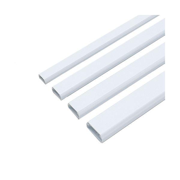 (まとめ) サンワサプライ ケーブルカバー17mm幅 角型 ホワイト CA-KK17 1本 【×30セット】