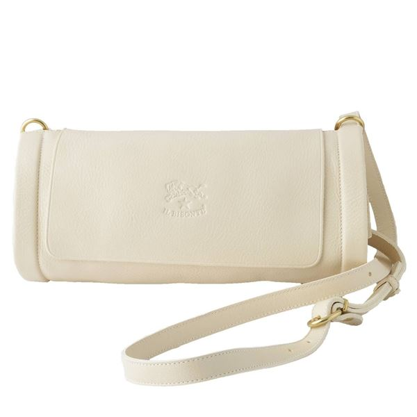 IL BISONTE(イルビゾンテ) A1464 864 Ivory ショルダーバッグ ポシェット CROSSBODY【代引不可】