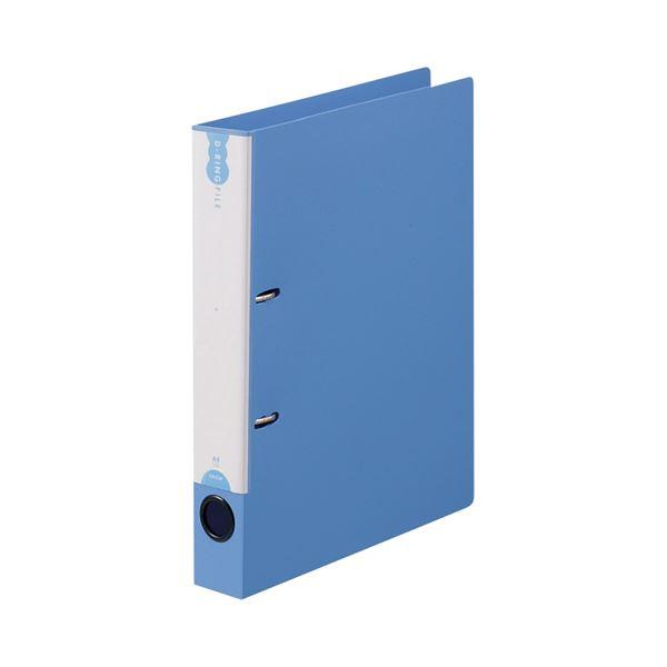 (まとめ) TANOSEE Dリングファイル(PP表紙) A4タテ 2穴 250枚収容 背幅43mm ブルー 1セット(10冊) 【×5セット】