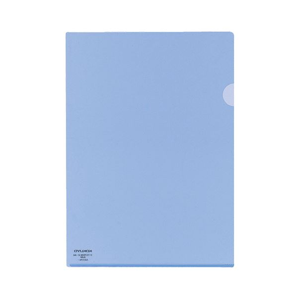 (まとめ) コクヨ クリヤーホルダースーパークリヤー10(テン) A4 スカイブルー フ-TC750N-2 1パック(5枚) 【×30セット】