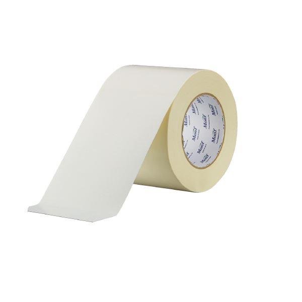 (まとめ)古藤工業 工事用布粘着テープNo.8002 白 100mm×25m【×5セット】
