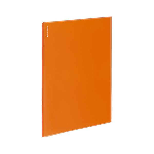 (まとめ)コクヨ ポケットファイルα(ノビータα)固定式 A4タテ 6ポケット 背幅3mm オレンジ ラ-NF6YR 1セット(10冊)【×5セット】