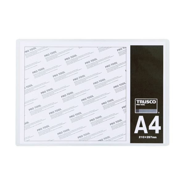 (まとめ) TRUSCO 厚口カードケース A3THCCH-A3 1枚 【×30セット】