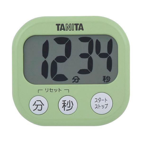 (まとめ)タニタ でか見えタイマーピスタチオグリーン TD-384GR 1個【×10セット】