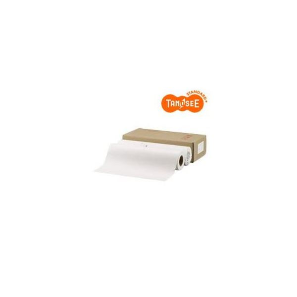 (まとめ)TANOSEE PPC・LEDプロッタ用普通紙ロール A1(594mm×150m) テープ止め 1箱(2本)【×3セット】