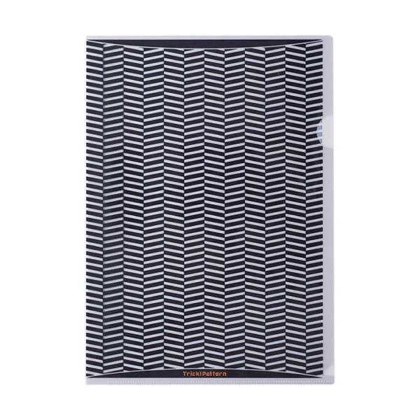 (まとめ) ヒサゴ トリック!クリアフォルダ A4ブラック OP2447 1パック(10枚) 【×10セット】