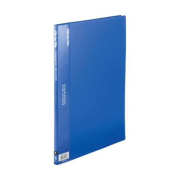 (まとめ)ビュートン クリヤーブック A4タテ10ポケット 背幅9mm ブルー BCB-A4-10B 1セット(10冊)【×5セット】
