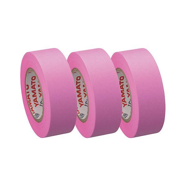 (まとめ) ヤマト メモック ロールテープつめかえ用 15mm幅 ローズ RK-15H-RO 1パック(3巻) 【×30セット】