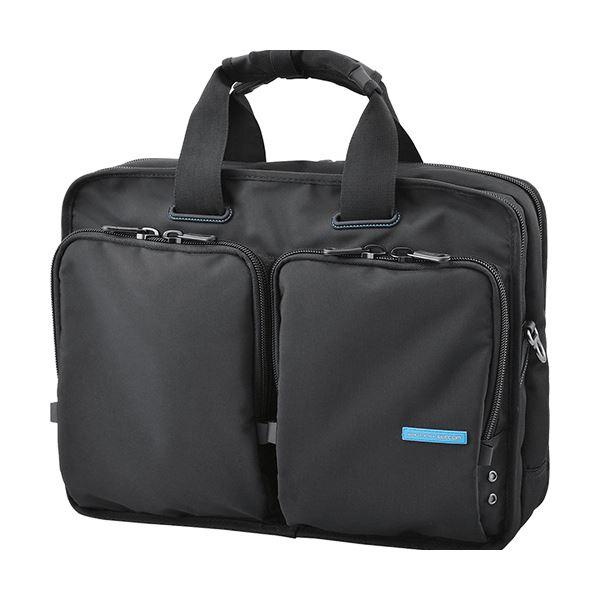 (まとめ)エレコム 営業用ビジネスバッグ ブラックBM-BG02BK 1個【×3セット】