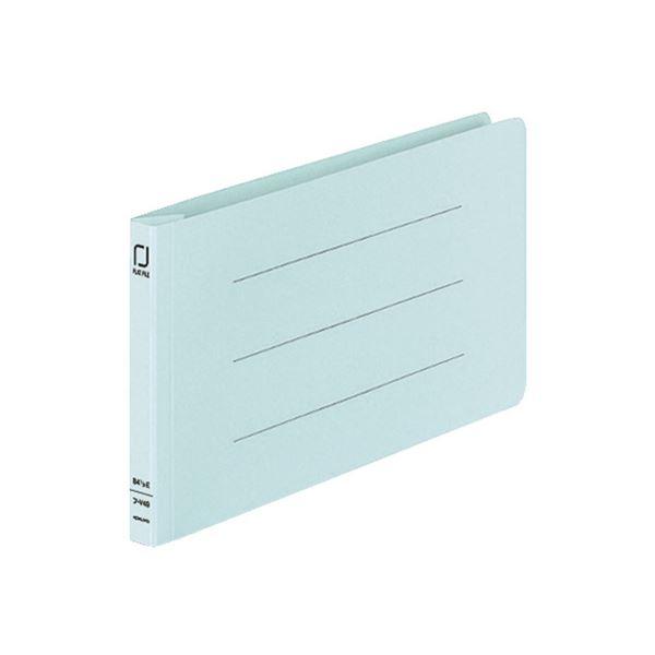 (まとめ) コクヨ 統一伝票用フラットファイル B4 1/3ヨコ 150枚収容 背幅18mm 青 フ-V49B 1パック(10冊) 【×10セット】