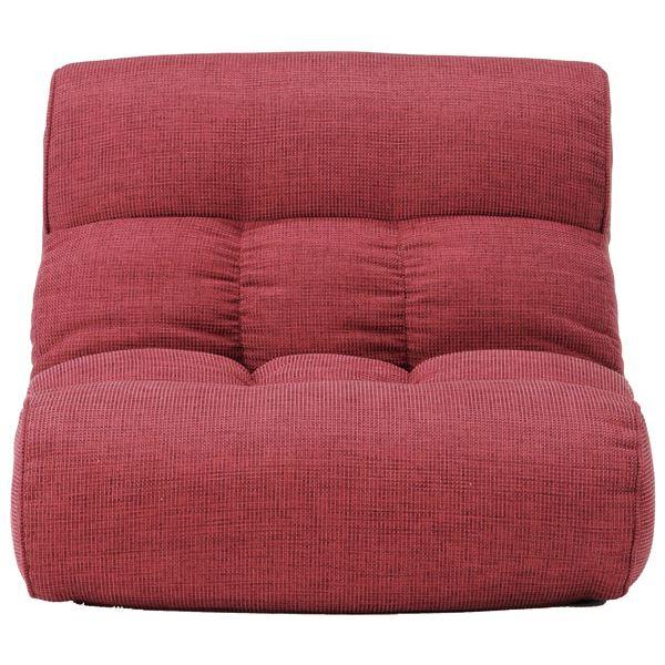 ソファー座椅子/フロアチェア 【ラズベリー】 ワイドタイプ 41段階リクライニング 『ピグレット2nd-ベーシック』