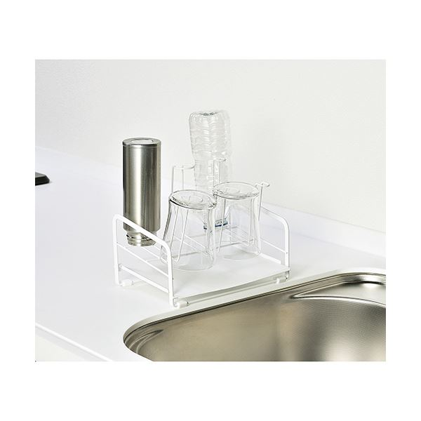 (まとめ)高儀 グラススタンドDX ホワイト 1個【×5セット】