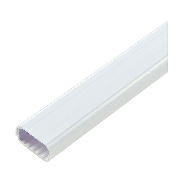 (まとめ)ELPA 切れるモール 2号 1m テープ付 ホワイト MH-CT21H(W)1本【×20セット】