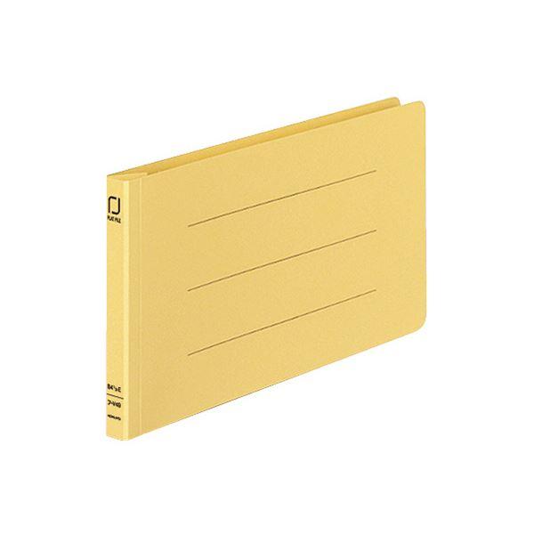 (まとめ) コクヨ 統一伝票用フラットファイル B4 1/3ヨコ 150枚収容 背幅18mm 黄 フ-V49Y 1パック(10冊) 【×10セット】