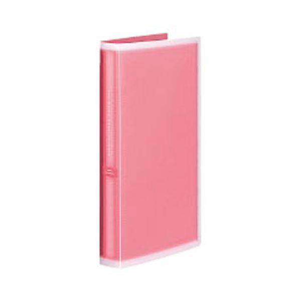 コクヨ ポシェットアルバム(コロレー)固定式 A4スリム(3段厚型)台紙50枚 ピンク ア-NPV30P 1セット(5冊)