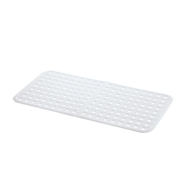 (まとめ) ジャンボ シンクマット/キッチン用品 【ホワイト】 大型 抗菌加工付き 『シェリー』 【×30個セット】