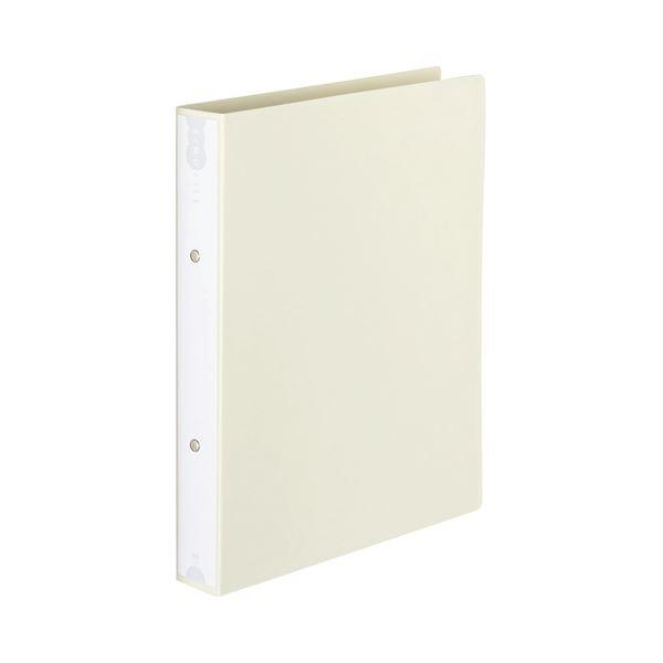 (まとめ) TANOSEE リングファイル(PP表紙) A4タテ 2穴 260枚収容 背幅42mm オフホワイト 1セット(10冊) 【×5セット】