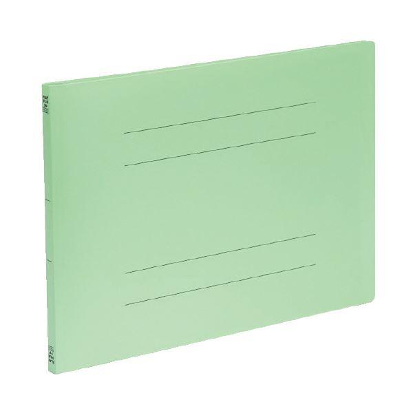 (まとめ)ビュートン PPフラットファイルA3横型 グリーン FF-A3E-GN (×50セット)