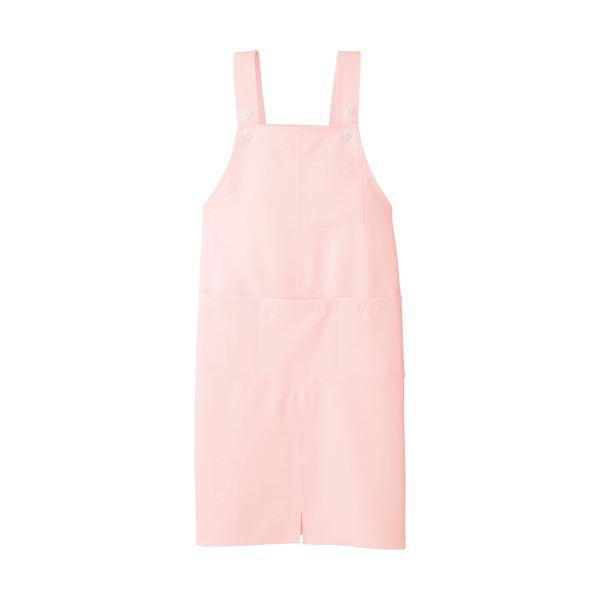 (まとめ)アイトス ロングエプロンストレッチギャバ ピンク フリーサイズ AIT861373PK 1枚【×5セット】