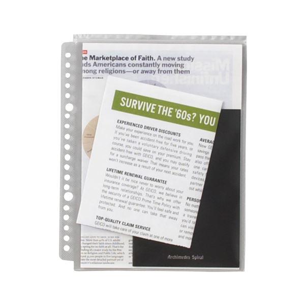 (まとめ) ライオン事務器 安心チャックポケットA5タテ 2・20穴 AP-A5 1パック(5枚) 【×30セット】