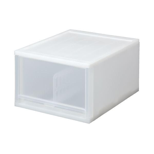 (まとめ)サンコープラスティック ブリオ A4深型1段ケース ホワイト(×5セット)