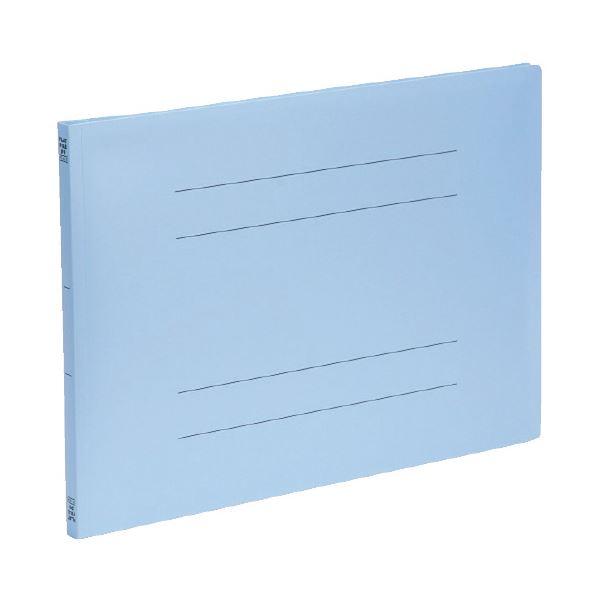 (まとめ)ビュートン PPフラットファイルA3横型 ブルー FF-A3E-B (×50セット)