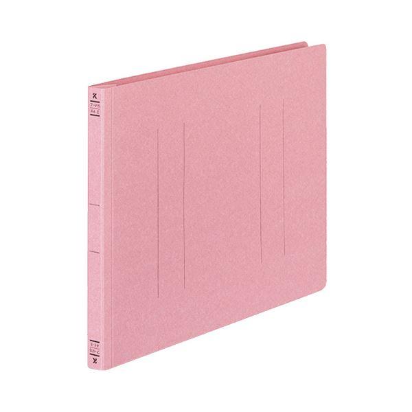 (まとめ) コクヨ フラットファイルV(樹脂製とじ具) A4ヨコ 150枚収容 背幅18mm ピンク フ-V15P 1パック(10冊) 【×10セット】