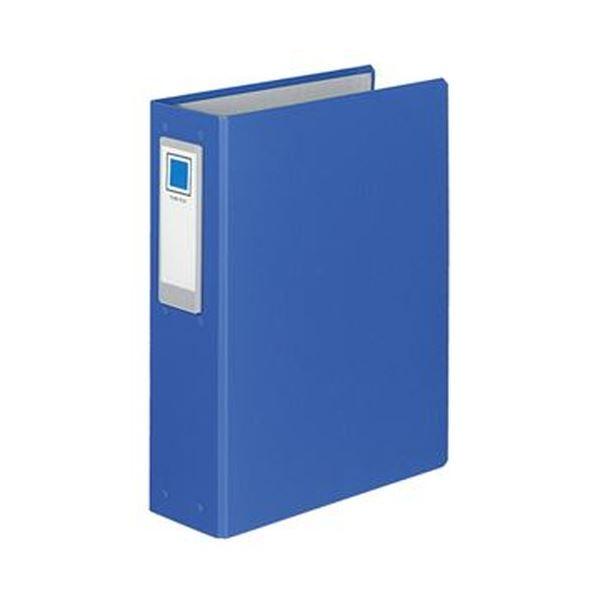 (まとめ)コクヨ チューブファイル(ロングボディ)片開き A4タテ 4穴 600枚収容 背幅89mm 青 フ-L664NB 1セット(2冊)【×5セット】
