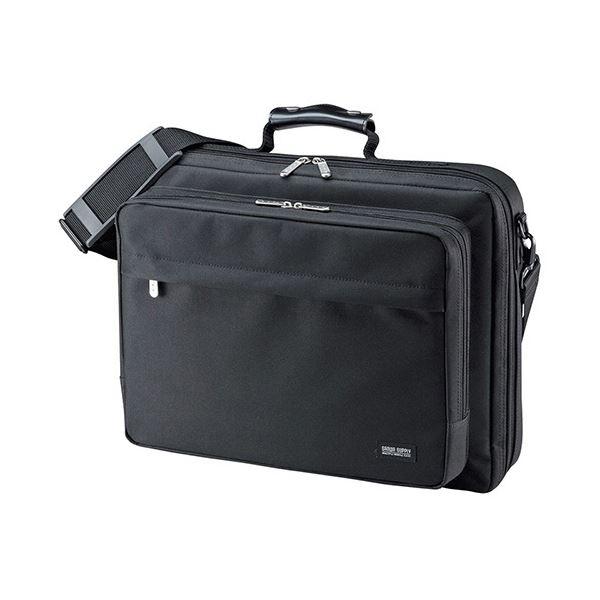 (まとめ)サンワサプライ PCキャリングバッグ15.6型ワイド対応 ブラック BAG-U54BK2 1セット(3個)【×3セット】