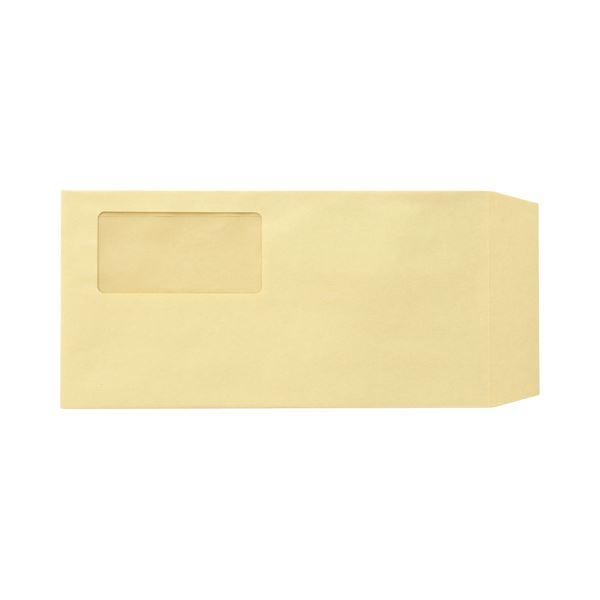 (まとめ)TANOSEE 窓付封筒 ワンタッチテープ付 長3 70g/m2 クラフト 業務用パック 1箱(1000枚)【×3セット】