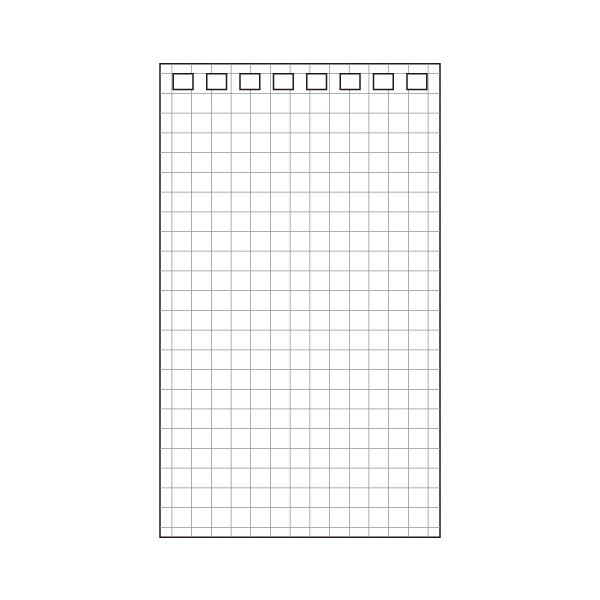 (まとめ) リヒトラブ AQUA DROPsツイストノート(メモサイズ) 専用リーフ 120×71mm 8穴 5mm方眼罫 N-1660S1パック(40枚) 【×100セット】