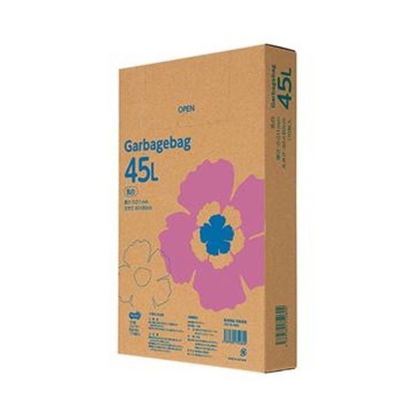 (まとめ)TANOSEE ゴミ袋エコノミー乳白半透明 45L BOXタイプ 1箱(110枚)【×20セット】