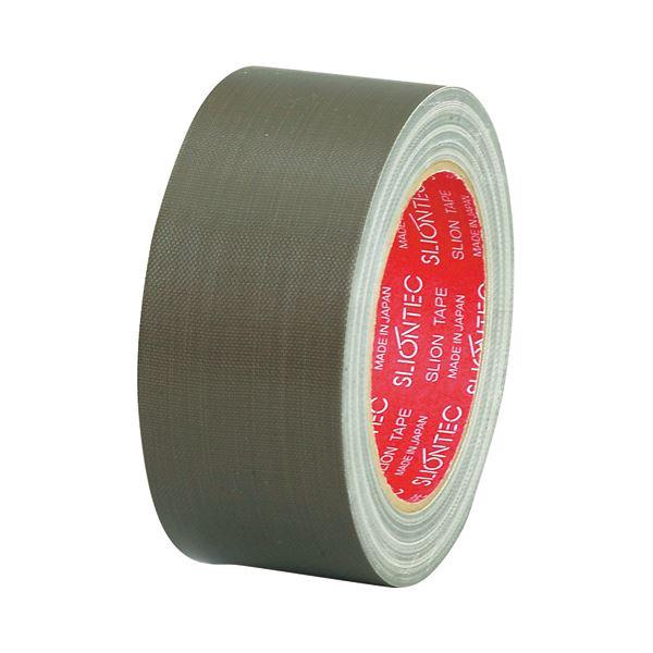 (まとめ) スリオンテック 布粘着テープ No.3390 50mm×25m オリーブドラブ No.3390-50OL 1巻 【×30セット】