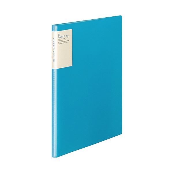 (まとめ)コクヨ クリヤーブック(キャリーオール)固定式・背ポケット A4タテ 10ポケット 背幅9mm 青 ラ-5002B 1セット(6冊)【×5セット】