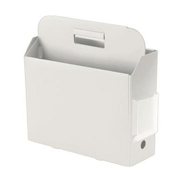 (まとめ)プラス PPキャリーボックス+ A4Eホワイト FL-126BF 1個【×20セット】